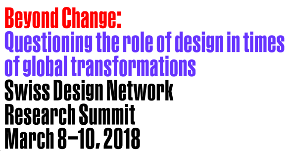 @ Beyond Change – Swiss Design Network Conference